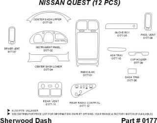 1993, 1994, 1995 Nissan Quest Wood Dash Kits   Sherwood Innovations 0177 N50   Sherwood Innovations Dash Kits