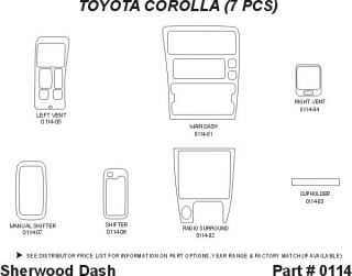 1993 1997 Toyota Corolla Wood Dash Kits   Sherwood Innovations 0114 CF   Sherwood Innovations Dash Kits