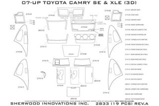 2010, 2011 Toyota Camry Wood Dash Kits   Sherwood Innovations 2833 BI   Sherwood Innovations Dash Kits