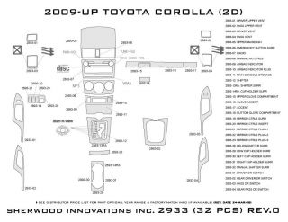 2009, 2010, 2011 Toyota Corolla Wood Dash Kits   Sherwood Innovations 2933 CF   Sherwood Innovations Dash Kits