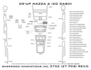 2009 2013 Mazda 6 Wood Dash Kits   Sherwood Innovations 3752 CF   Sherwood Innovations Dash Kits