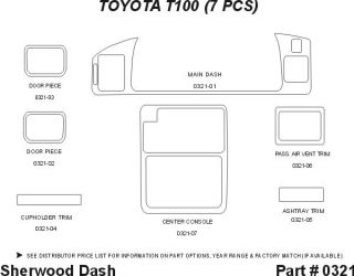 1994 1998 Toyota T100 Wood Dash Kits   Sherwood Innovations 0321 N50   Sherwood Innovations Dash Kits