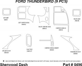 1997 Ford Thunderbird Wood Dash Kits   Sherwood Innovations 0496 CF   Sherwood Innovations Dash Kits
