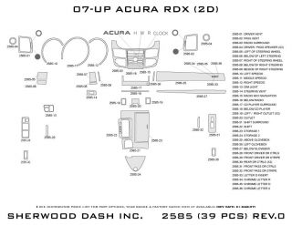 2011 Acura RDX Wood Dash Kits   Sherwood Innovations 2585 N50   Sherwood Innovations Dash Kits