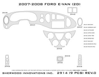 2007, 2008 Ford Econoline Wood Dash Kits   Sherwood Innovations 2914 CF   Sherwood Innovations Dash Kits