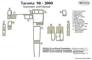 1998, 1999, 2000 Toyota Tacoma Wood Dash Kits   B&I WD252A DCF   B&I Dash Kits