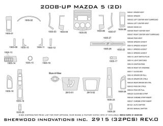 2008, 2009, 2010 Mazda 5 Wood Dash Kits   Sherwood Innovations 2915 N50   Sherwood Innovations Dash Kits
