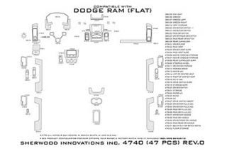 2013 Dodge Ram Wood Dash Kits   Sherwood Innovations 4740 AJ   Sherwood Innovations Dash Kits