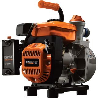 Generac Clean Water Pump with Hose Kit — 1.5in. Ports, 4800 GPH, Generac 79.8cc Engine, Model# CW15K  Engine Driven Clear Water Pumps