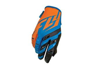 Fly Racing Kinetic Gloves Blue/Orange/Black Sz 7 368 41707