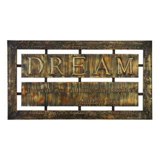 Woodland Imports 38 in W x 21 in H Frameless Metal Dream Sign Wall Art