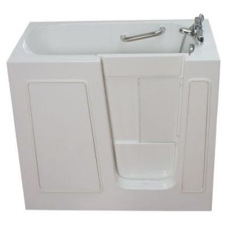 Ella Elite 4.33 ft. x 30 in. Acrylic Walk In Dual (Air and Hydro) Massage Bathtub in White with Right Drain/Door 93108