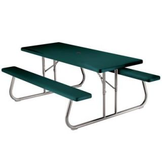 Lifetime 6 ft. Green Picnic Table 2123