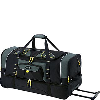 Travelers Club Luggage Travelers Polo & Racquet Club 36 Two Toned 2 Section Drop Bottom Rolling Duffel