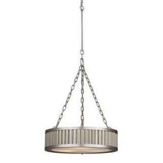 Commercial Electric Halophane 1 Light Brushed Nickel Pendant DK1001 BN
