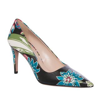 Prada Floral print Leather Point toe Pumps  ™ Shopping