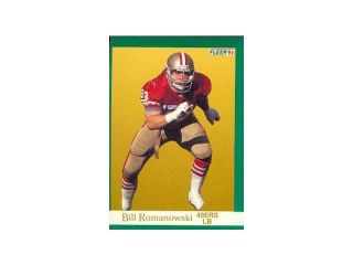 Autograph Warehouse 79187 Bill Romanowski Football Card San Francisco 49Ers 1991 Fleer No .364
