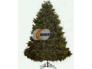 9' Full Fresh Cut Durango Spruce Artificial Christmas Tree Pre Lit Clear Lights