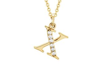 The Kelly 14K Gold Diamond Lower Case Letter 'x' Necklace, 16 Inch