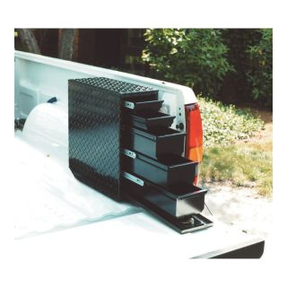 Aluminum Sliding Drawer Truck Box — 5-Drawer, Vertical, Black, 20 1/2in.L x 7 5/8in.W x 18 7/8in.H