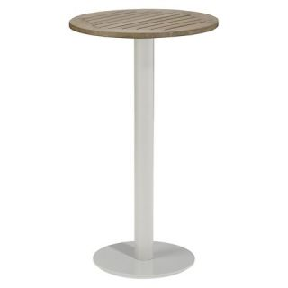 Oxford Garden Travira Round Bar Table   Powder Coated Aluminum Frame