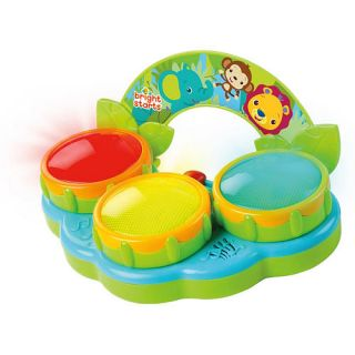 Bright Starts Safari Beats Drum Toy    Kids II