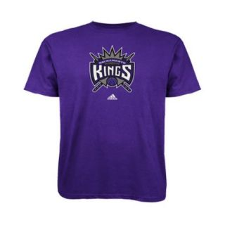 Sacramento Kings Adidas Primary Logo NBA Men T Shirt Purple
