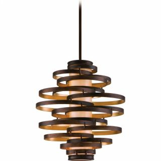 Corbett Lighting COR 113 43 Vertigo Bronze/Gold Leaf  Pendants Lighting