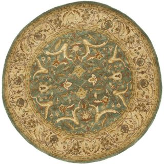 Safavieh Heritage Blue and Beige Round Indoor Tufted Area Rug (Common 6 x 6; Actual 72 in W x 72 in L x 0.5 ft Dia)