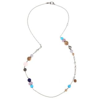 Fossil Jewelry Womens Stainless Steel Bead Necklace   14140236