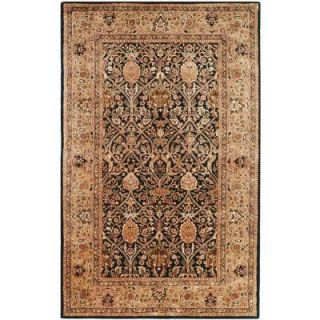 Safavieh Antiquity Blue/Gold 4 ft. 6 in. x 6 ft. 6 in. Oval Area Rug AT52C 5OV