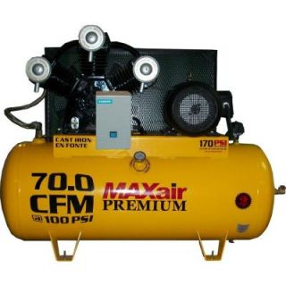 Maxair Premium Industrial 120 Gal. 15 HP Electric 460 Volt Single Stage 3 Phase Air Compressor C153120H1 CS460 MAP