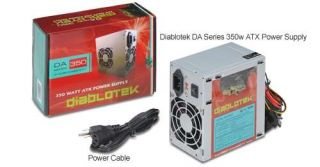Diablotek DA Series 350w ATX Power Supply   350W, Dual 80mm Fan, ATX Power Supply