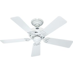 Hunter HUF 52065 Hudson White  Ceiling Fans Lighting