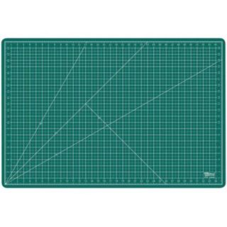 "24"" x 36"" GREEN/BLACK Self Healing 5 Ply Double Sided Durable PVC Cutting Mat"
