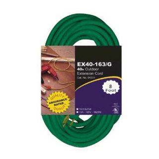 EX9 16/3 TT Tri Tap 8 foot Green Extension Cord