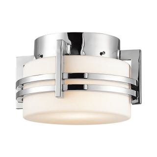 Kichler Lighting Pacific Edge 10.5 in W Polished Stainless Steel Outdoor Flush Mount Light