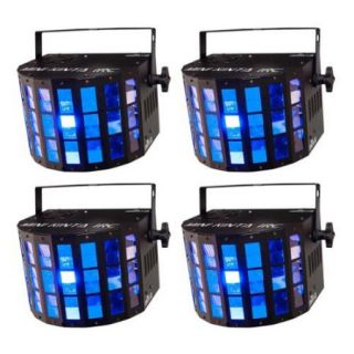 (4) CHAUVET DJ Mini Kinta IRC LED RGBW DMX Sound Activated Ambient Light Effects