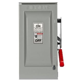 Siemens Heavy Duty 30 Amp 600 Volt 3 Pole Outdoor Fusible Safety Switch with Neutral HF361NR