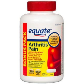 Equate Arthritis Pain Acetaminophen Pain Reliever/Fever Reducer Extended Release Caplets, 650mg, 325 count