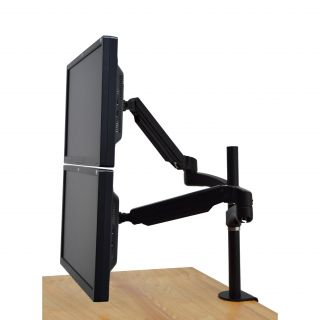 30 H x 47.5 W Height Adjustable Dual Screen Desk Mount