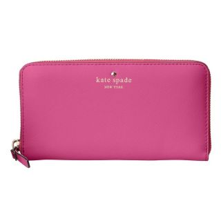 Kate Spade Leather Cedar Street Vivid Snapdragon Lacey Wallet