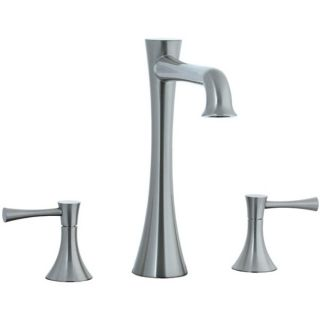 Cifial 245.650.620 Brookhaven L Spout 3 Pieces Double Lever Handle Roman Tub Trim in Satin Nickel