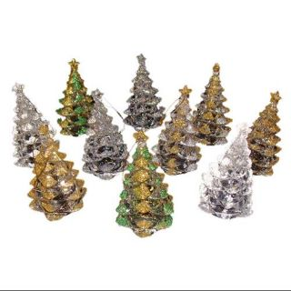 Club Pack of 288 Glitter Christmas Tree Ornaments 4""