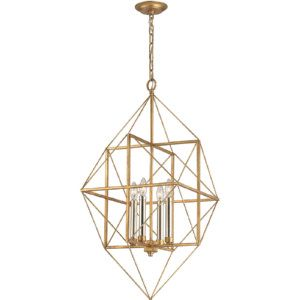 Dimond Lighting DMD 1141 005 Connexions Antique Gold Leaf/Silver Leaf  Pendants Lighting