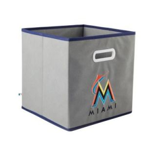 MyOwnersBox MLB STOREITS Miami Marlins 10 1/2 in. x 10 1/2 in. x 11 in. Grey Fabric Storage Drawer 11200MIA