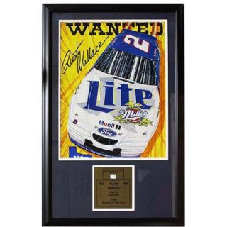 NASCAR Rusty Wallace Game Used Frame, 12x18