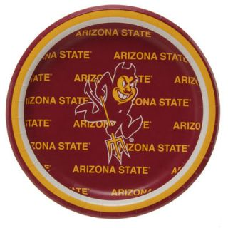 Arizona State Sun Devils 8 Pack Lunch Plate Set