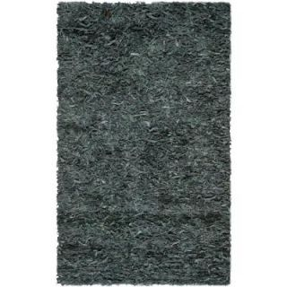 Safavieh Leather Shag Grey 3 ft. x 5 ft. Area Rug LSG511N 3