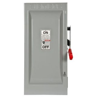 Siemens Heavy Duty 100 Amp 600 Volt 2 Pole Indoor Non Fusible Safety Switch HNF263